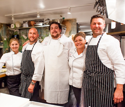 The Denver chef team in the Beard House kitchen