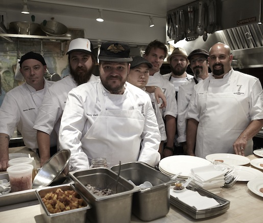 The team of chefs in the Beard House kitchen