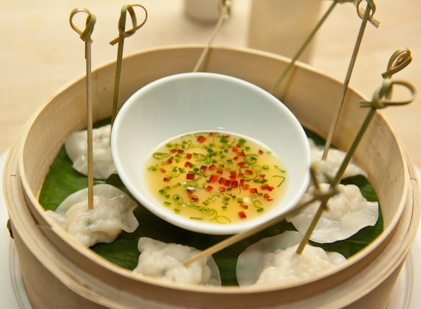 Langoustine Dumplings with Meyer Lemon Ponzu