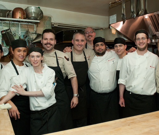 The Rouge Tomate team in the Beard House kitchen