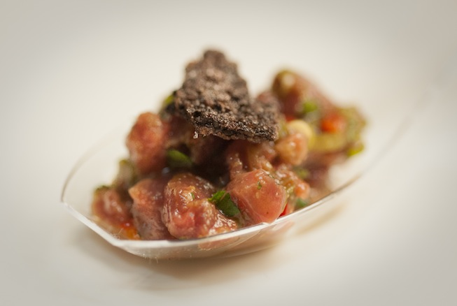 Mongolian Lamb Tartare with MaLa Flavors, Preserved Chilies, and Cumin