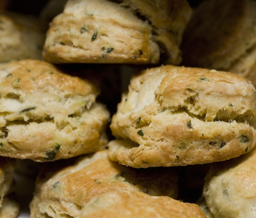 Miniature Buttermilk Biscuits with Sage and Parsley