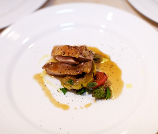 Roasted Pheasant with Marinated-and-Charred Vegetables