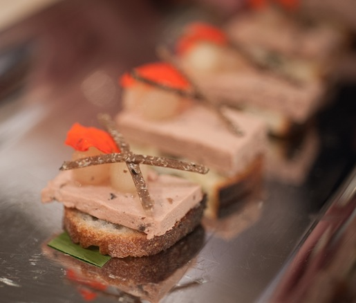 Truffle-Studded Duck Liver Pâté with 61-Degree Celsius Asian Pears