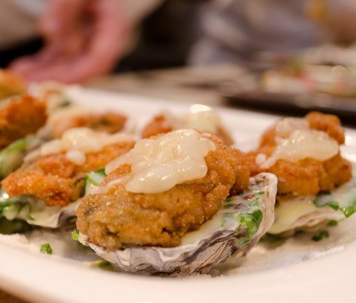 Crispy Diamond Jim Brady–Style Barcat Oysters