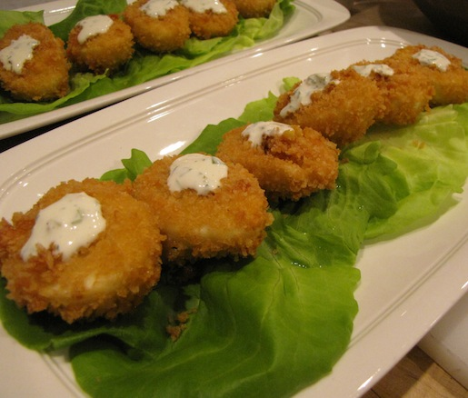 Crispy Deviled Eggs with Roasted Jalapeño–Ranch Dressing