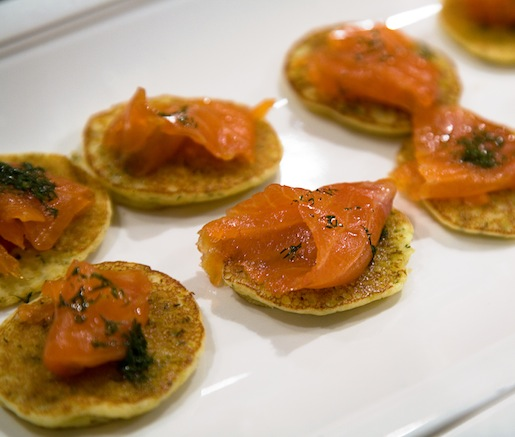 House-Cured Gravlax on Potato Blini