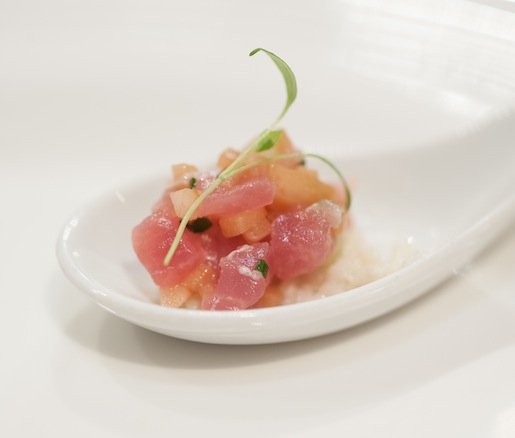 Tuna Tartare with Cucumber and Apple–Horseradish Cream