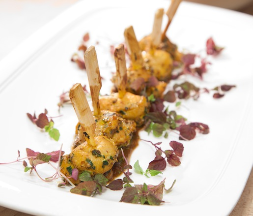 Chicken–Oyster Skewers with Tamarind