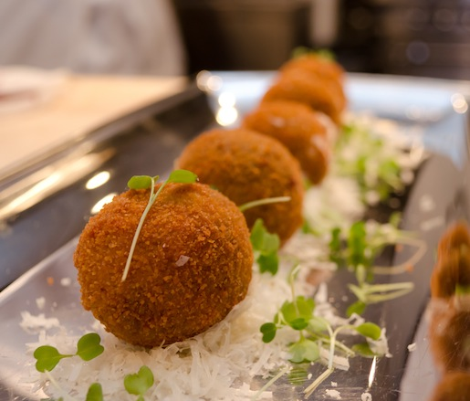 Arancini with Barolo and Taleggio Cheese