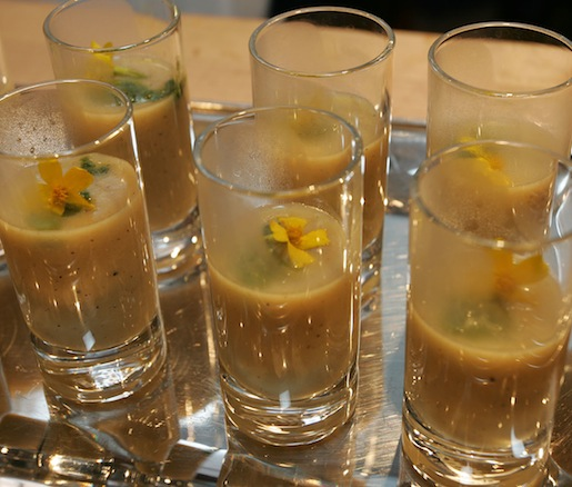 Potage Parmentier > Potato, Leek, and Sweet Corn Bisque with Pistou