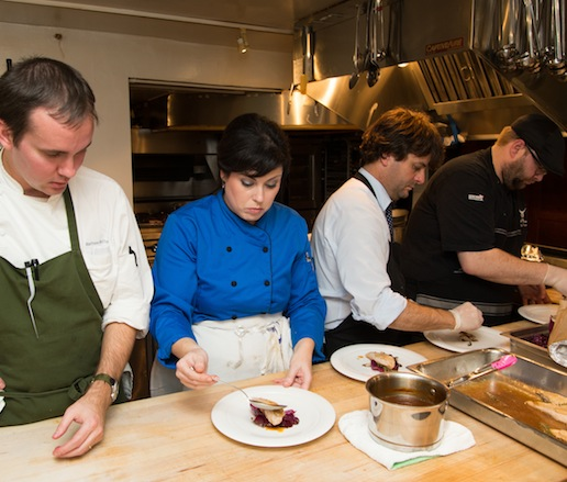 Behind the scenes in the James Beard House kitchen