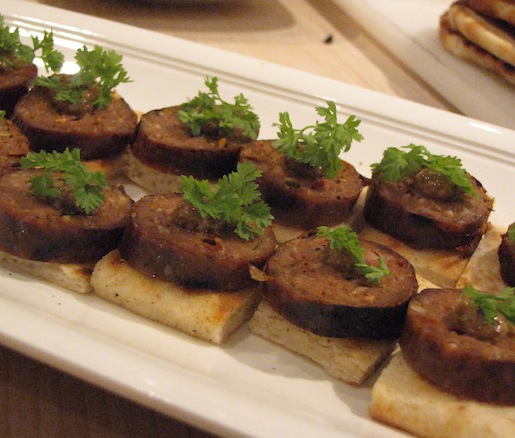 Grilled Smoked Lamb Sausages with Milk Stout Mustard