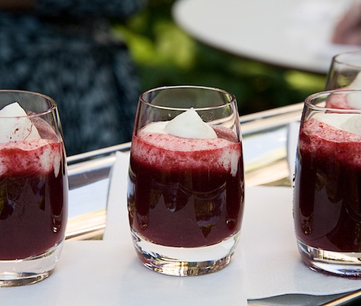 Concord Grape Soup Shooters