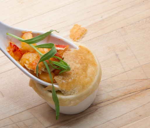 Lobster Bisque en Croûte with Butter-Poached Nova Scotia Lobster, Tarragon, and Dry Sack Sherry