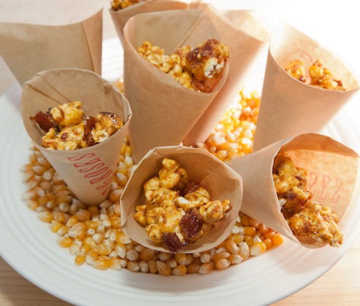 Popcorn with Brown Sugar, Chilies, and Bacon