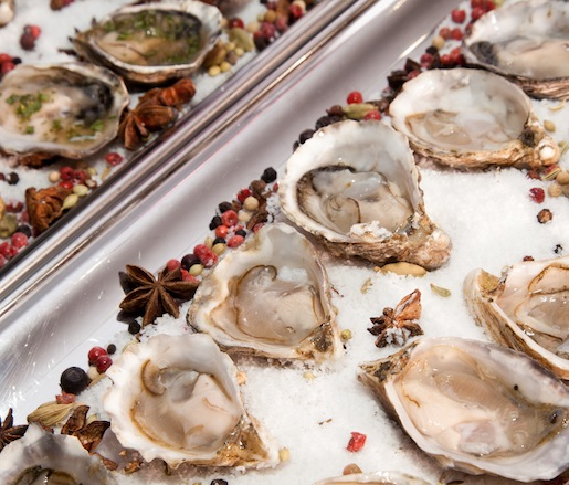 Kushi Oysters with Champagne Mignonette