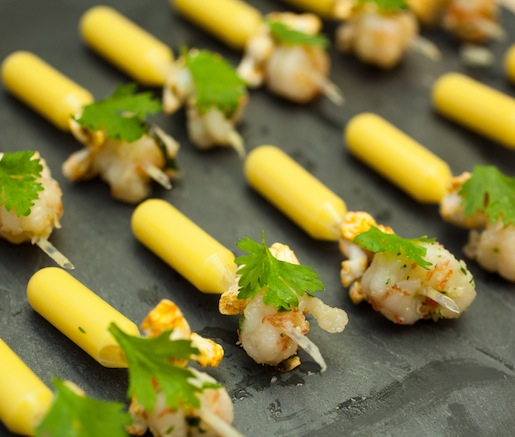 Popcorn Shrimp with Elote-Style Corn