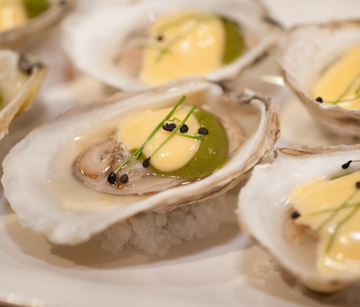 Oysters with Wasabi and Dill Granité