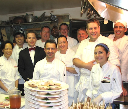 Chef Kevin Long and his team at the Beard House