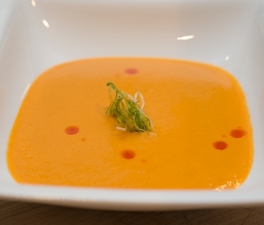 Coastal Hay–Smoked Tomato Bisque
