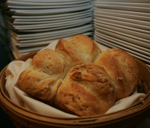 For the Table > Warm Housemade Parker House Buns with Amagansett Sea Salt