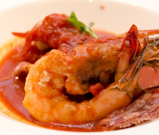 Rockport Bouillabaisse with Black Drum, Texas Gulf Shrimp and Squid, and Aransas Bay Clams