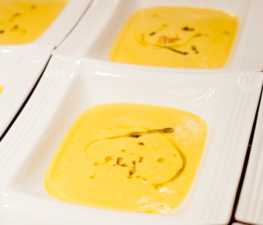 White Alba Truffle, Ibérico Ham, and Local White Sweet Potato Soup