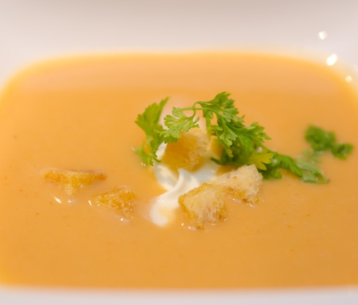 Gulf Shrimp Bisque with Texas Olive Oil Croutons