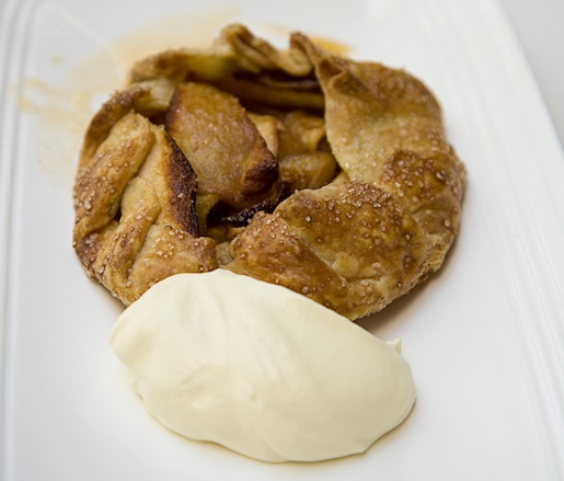 Russet Apple–Rosemary Tart with Cider Sabayon