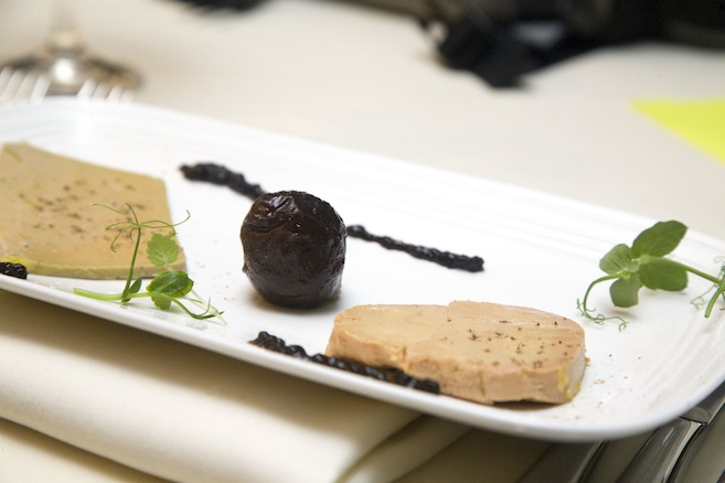 Chilled Foie Gras Palette > Torchon, Terrine, and Black Truffle with Seasonal Chutney and Toasted Brioche