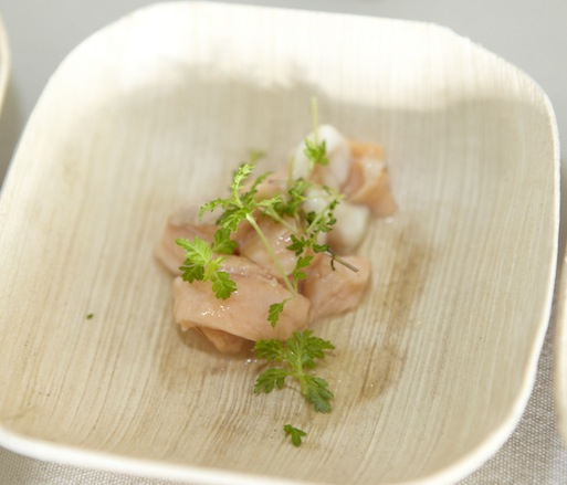 Striped Bass and Skuna Bay Salmon Ceviche with Citrus Dressing by Rosa Ross (Scrimshaw)