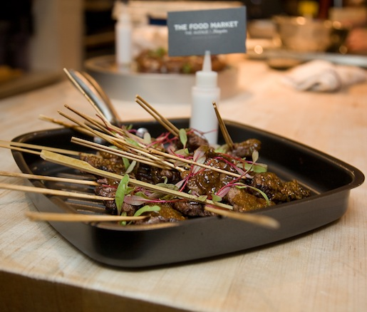 Charred Beef Sticks with Smoky Chipotle and Horseradish Chimichurri
