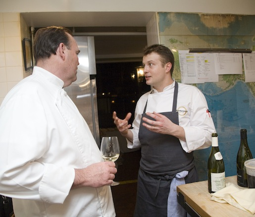 Chef Charlie Palmer behind the scenes in the Beard House kitchen