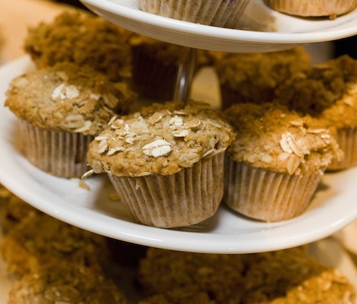 Miniature Brown Sugar, Oatmeal, and Cranberry Muffins
