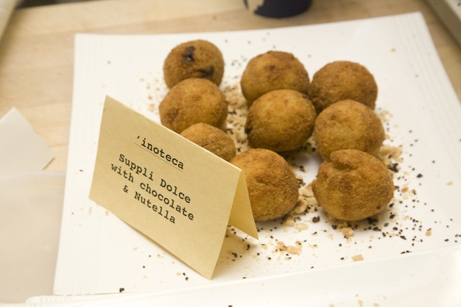 Suppli Dolce > Vanilla–Hazelnut Risotto Croquettes with Chocolate and Nutella