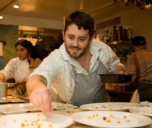Will Gilson in the James Beard House kitchen