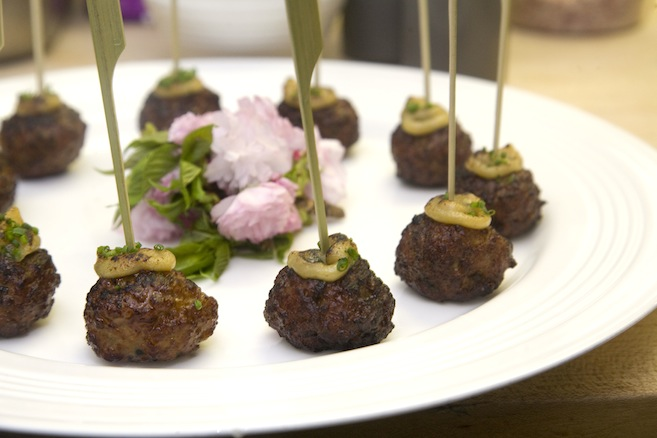 Pork Meatballs with Cherry Blossom Miso