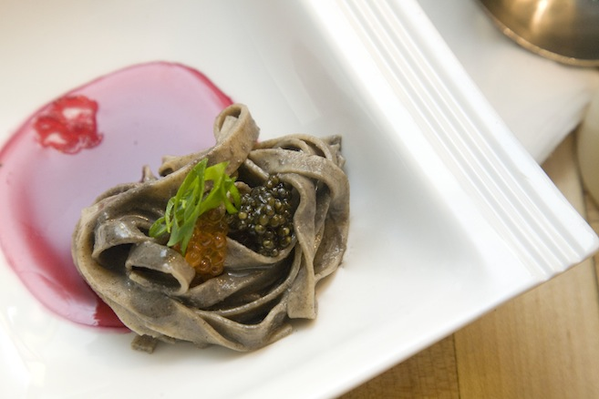 Chilled Buckwheat Noodles with Cherry Blossom Tea