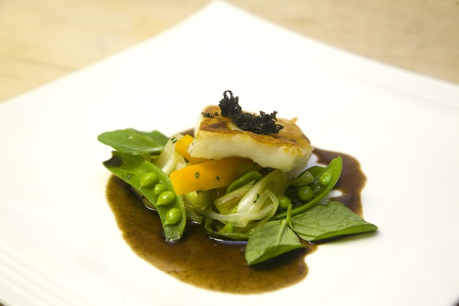 Turbot Pot-au-Feu with Truffle Broth