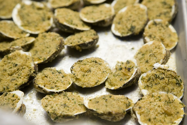 Baked Manila Clams Oreganata