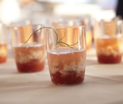 Crab Cocktail with Heirloom Tomatoes by Matthew Lightner (Atera)