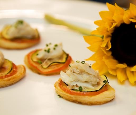 Blue Crab–Zucchini Tarts