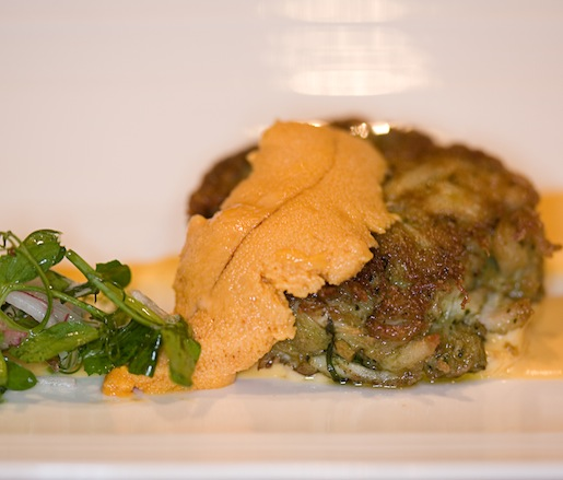 Blue Crab Crabcake with Sea Urchin Mayonnaise