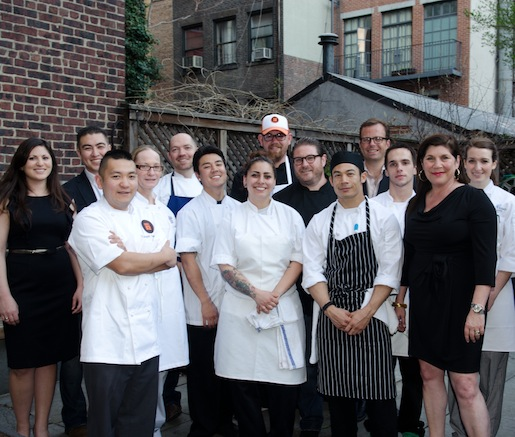 Chef David LeFevre's team