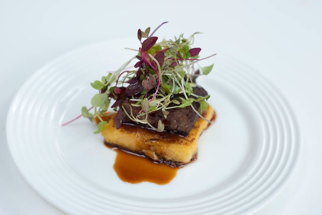 Bison Short Ribs with Polenta and Pickled Cabbage