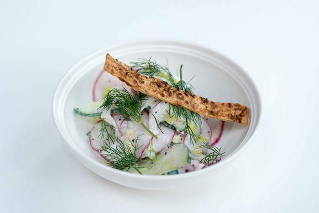 Cucumber–Radish Salad with Poppy Seed–Yogurt Vinaigrette