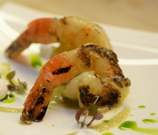 Seared Malvan Prawns with Green Chilies, Coconut, and Cilantro