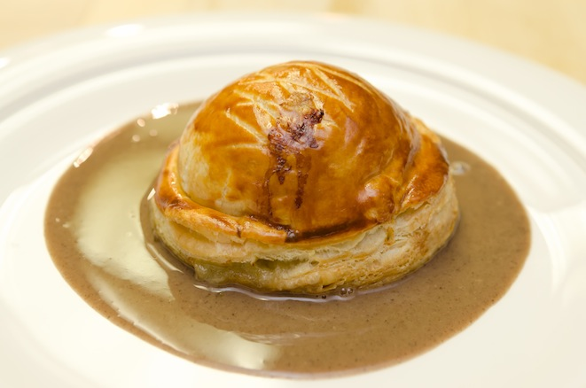 Hudson Valley Foie Gras and Duck Pie with Savory Wine Sauce