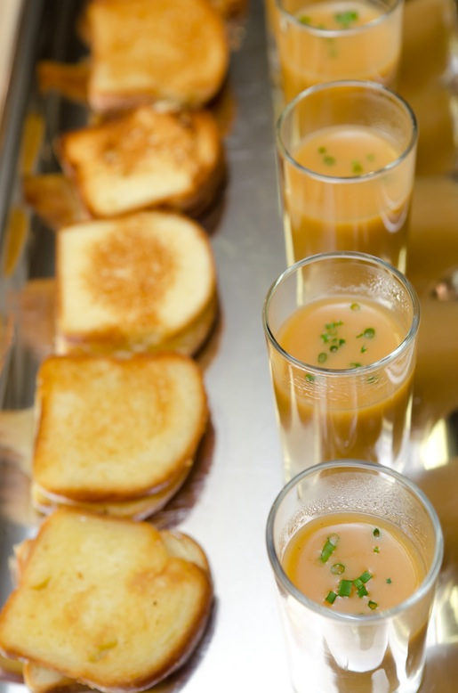Alaskan Spot Prawn Bisque with Grilled Cheese Brioche